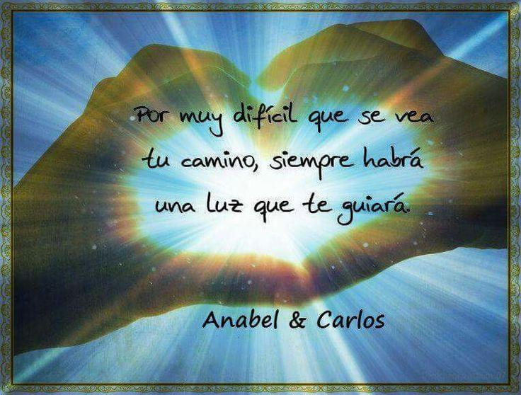 Nunca pierdas la esperanza, siempre hay una luz en medio de la oscuridad!!! #anabelycarlos #avefenix