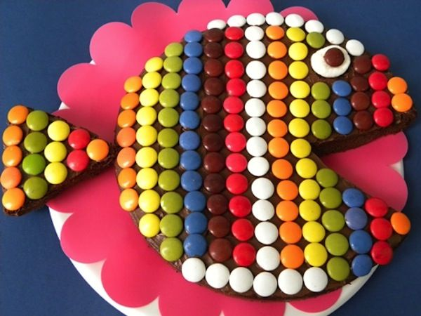 tarta facil de cumpleaños para niños. Tartas de animales: pez