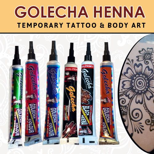 Golecha Henna Tubes  6 Different Color Instant Henna Tubes Kit For Body Art ✖️HAIR AND BEAUTY  :  HENNA SUPPLIES   / ‫حنا‎‬ / MEHNDI SUPPLIES / ‫‎‬ ‫‎‬ ‎‫حِنَّاء‎‬   ✖️FOSTERGINGER AT PINTEREST ✖️