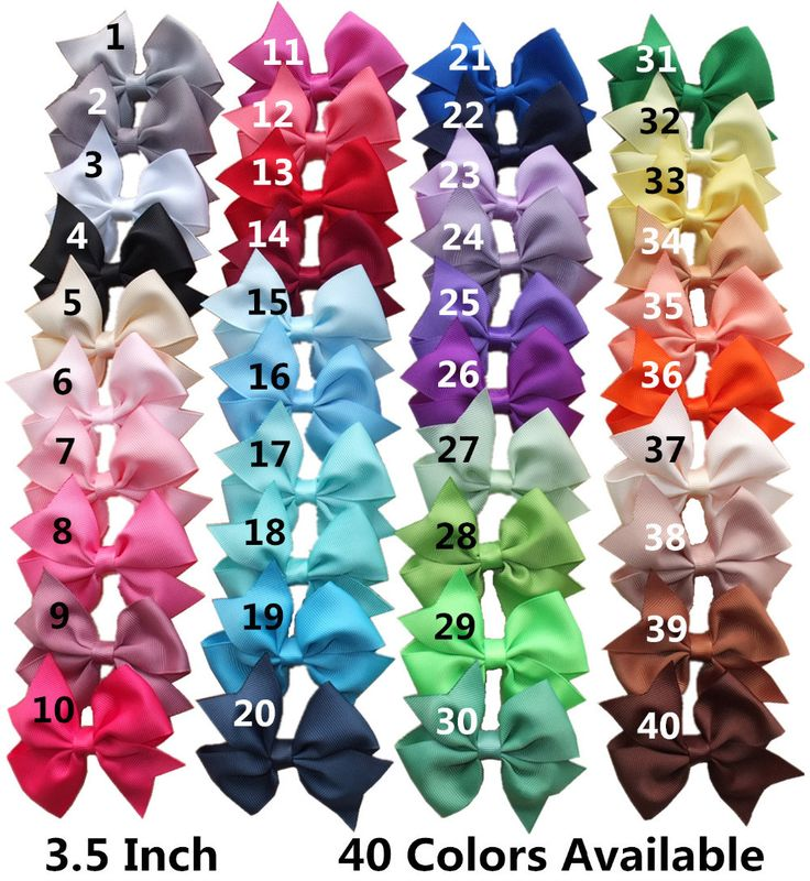 40 pcs 3.5 inches baby girl boutique hair bow Hair clips Hairgrips Grosgrain hair bow supply Wholesale HAIR ACCESSORIES