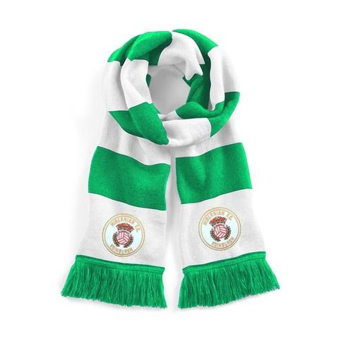 Hibernian 1980s Traditional Football Scarf Embroidered Logo