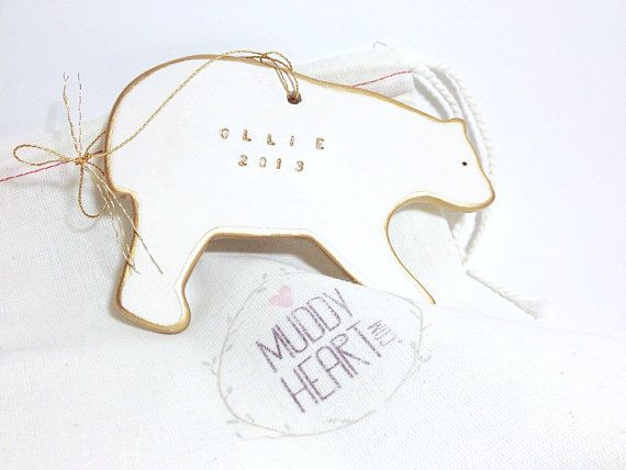 Hey, I found this really awesome Etsy listing at https://www.etsy.com/listing/172607584/polar-bear-personalized-ornament-white