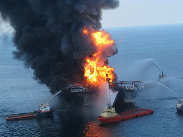 Drilling rig accident Gulf of Mexico April 20, 2010 11 workers were killed when an explosion rocked the BP Deepwater Horizon well. Before the environmental catastrophe ended, 200 million gallons of oil had been released into the Gulf of Mexico