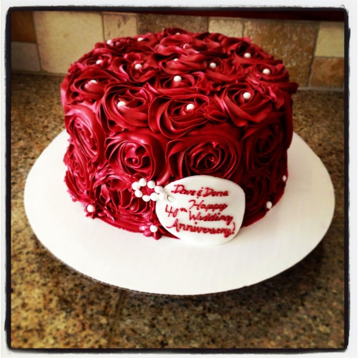 Best 20+ 40th anniversary cakes ideas on Pinterest