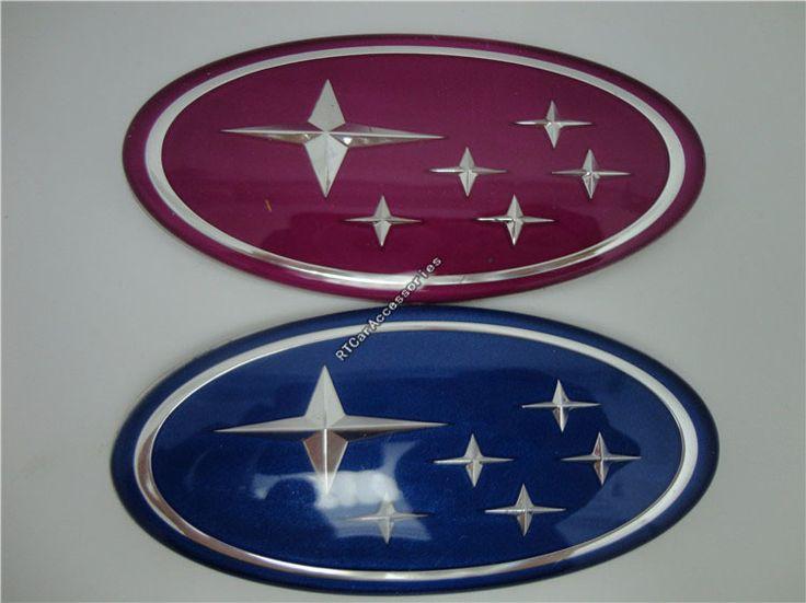 recommended] blue & purple subaru sticker, 3d subaru logo decal