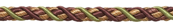 "9 Yard Value Pack of Large PLUM OLIVE GREEN Baroque Collection 7/16"" Decorative Cord Without Lip Style# 716BNL Color: PLUM OLIVE – 7346 (27 Ft / 8 Meters)"
