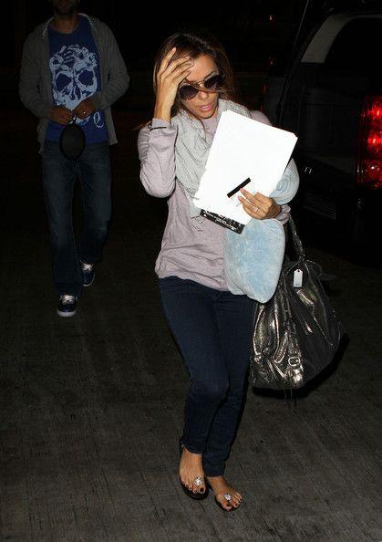 Eva Longoria Photos: Eva Longoria Parker & Husband Arriving At LAX Airport