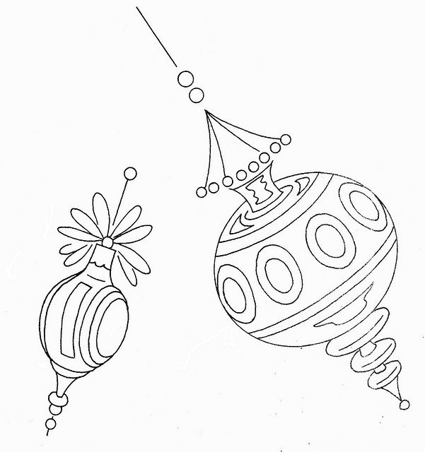 vintage looking ornament embroidery!!
