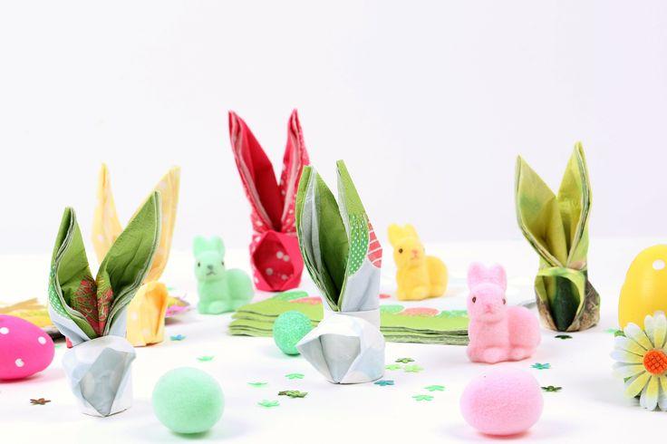 [Tuto] Pliage de serviette lapin - Mesa Bella Blog