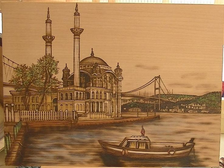 Turkey pyrography | Bosfor Bridge Turkey Pyrography