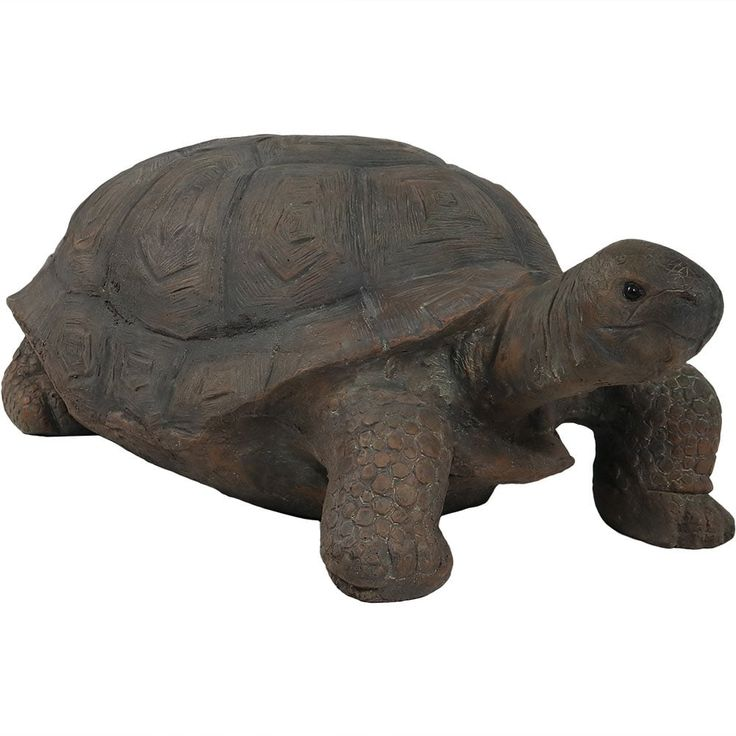 Sunnydaze Todd the Tortoise Indoor/Outdoor Statue, 30 Inch Long, Tan (Resin), Outdoor Décor