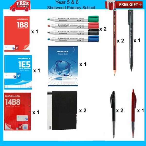 Sherwood Primary School Stationery Packs - School Depot NZ  - 6