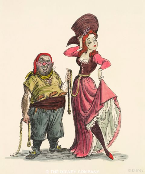 The redhead, of course! Sketched by Marc Davis for Pirates of the Caribbean.