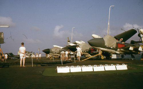 Sea Vixen FAW.1s aboard HMS Centaur c.1964 (Photo: John Holton)