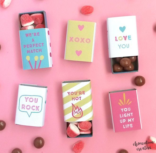 Download and print these cute matchbox covers and make adorable mini gifts for #Valentine's Day. These are great for your special love or…