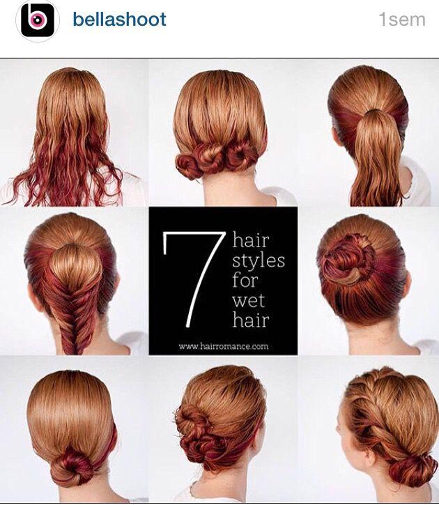 Peinados para cabello mojado