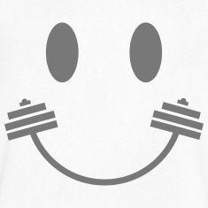 Happy Gym Smiley Magliette