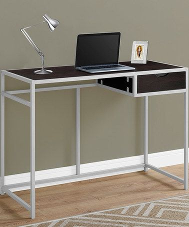 Look what I found on #zulily! Cappuccino One-Drawer Metal Computer Desk #zulilyfinds