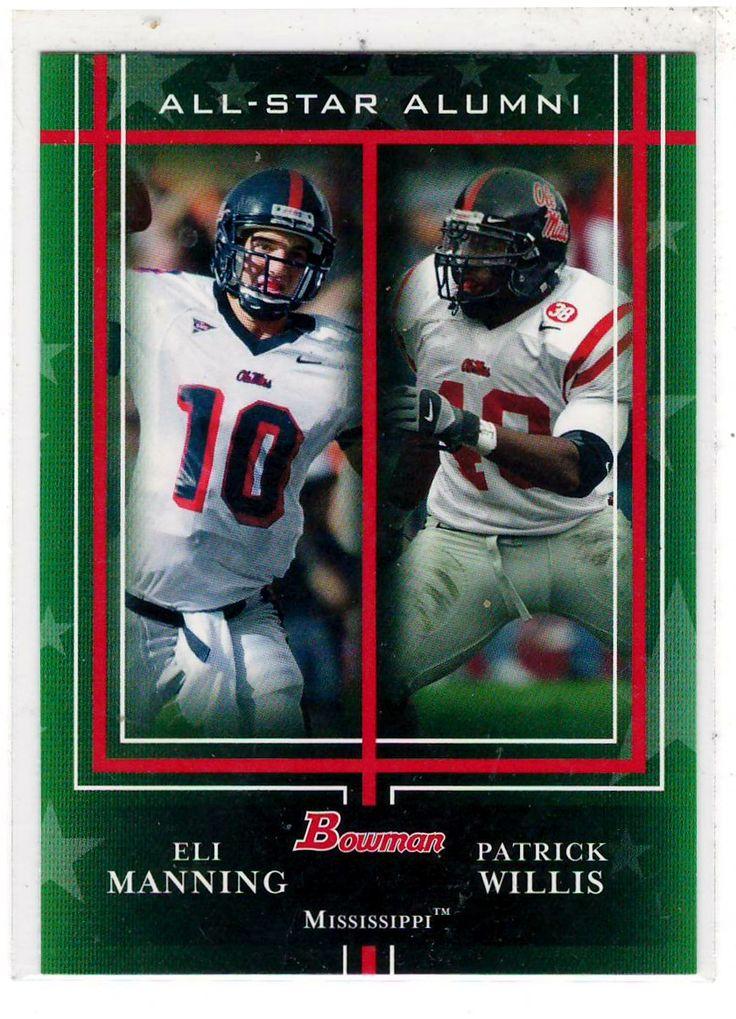 Sports Cards Football - 2009 Bowman (All-Star Alumni) Eli Manning / Patrick Willis