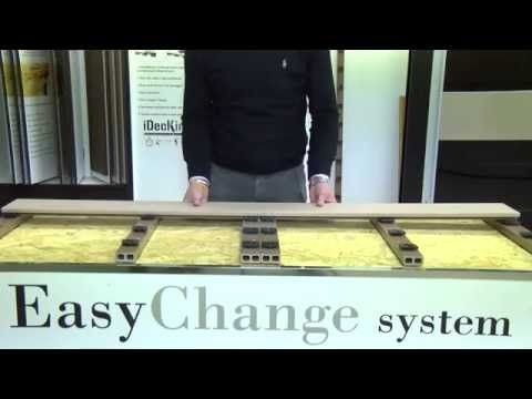 Leroy Merlin - Come posare un pavimento da esterno in legno composito Easychange - YouTube