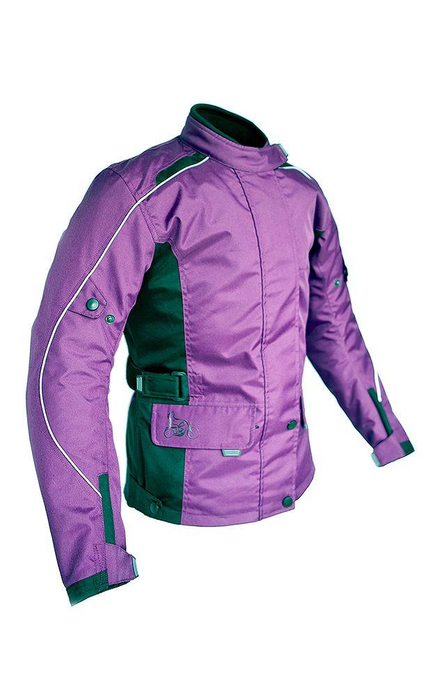 Sizes 8-34: LadyBiker Rowan Ladies Textile Motorcycle Jacket with FREE Textile Cleaner - Berry - LadyBiker.co.uk