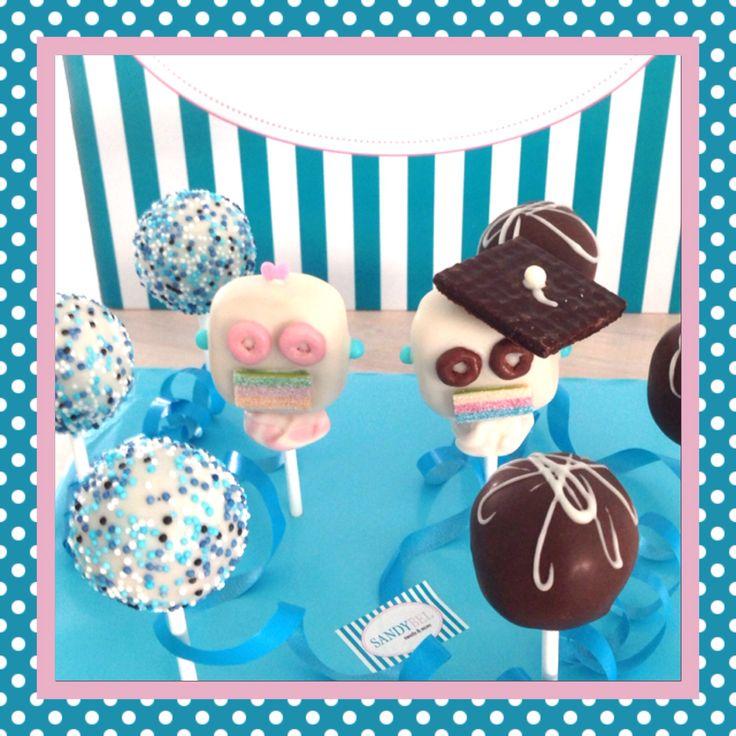 Roboter Männchen und Weibchen zum Abschluß #cakepops by #sandybel #roboter #sweets #nürnberg #fürth