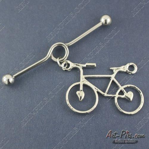 Индастриал закрученный с велосипедом.