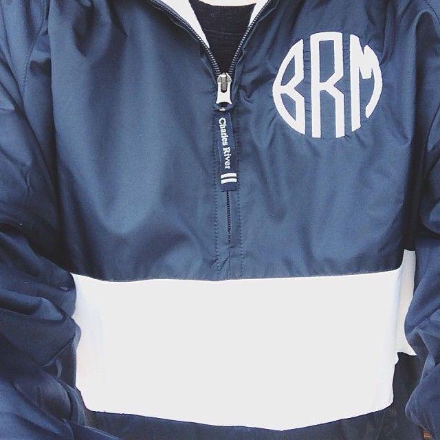 brunchwithbee:  Rainy days call for monogrammed rain jackets! @Marley Lilly #monogram #rainraingoaway #preppy