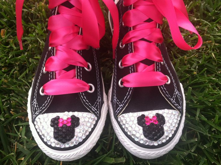 MINNIE MOUSE Inspired SHOES - Minnie Mouse Birthday - Crystals - Sparkle Toes - Pink Converse - Toddler shoes Youth shoes by SparkleToes3 on Etsy https://www.etsy.com/listing/174543248/minnie-mouse-inspired-shoes-minnie-mouse