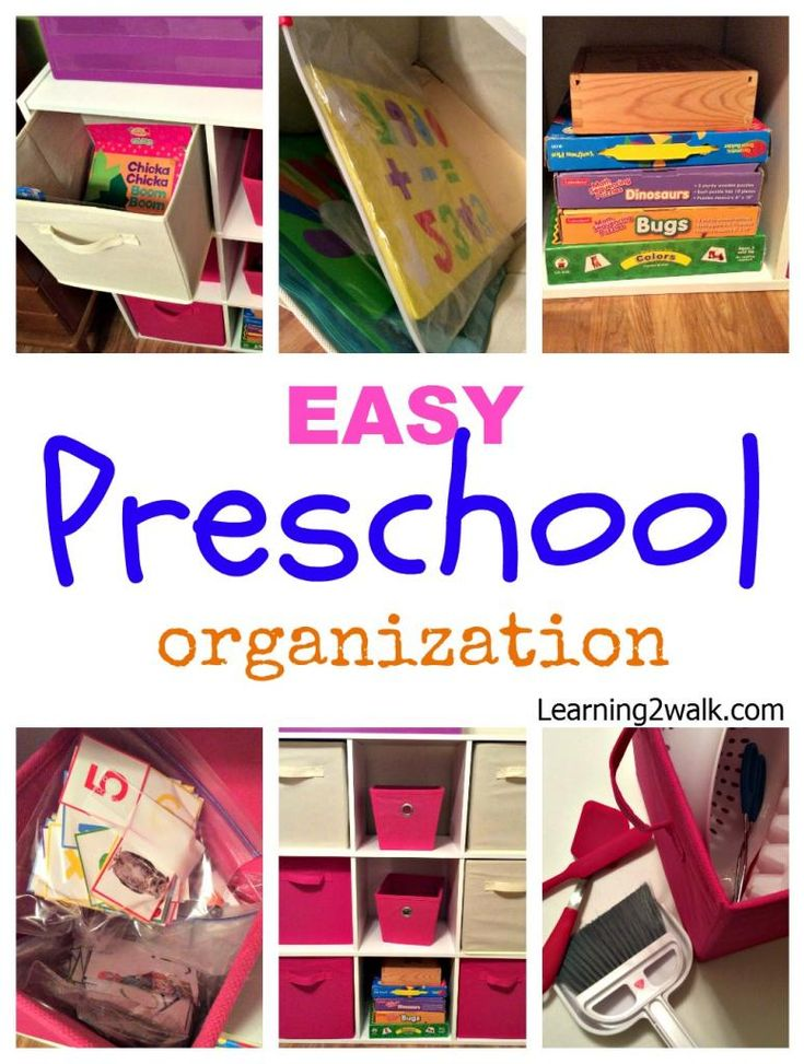 Preschool Organization tips