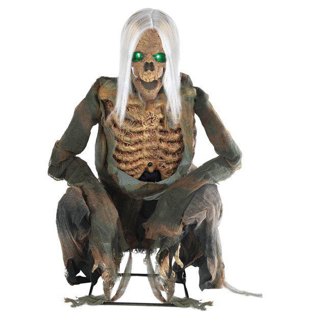 Walmart.Com Recetas Halloween 2020 Crouching Bones Animated Prop Halloween Decoration   Walmart.