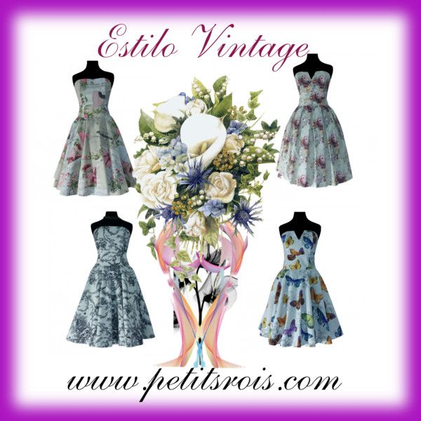 Vestidos Estilo Vintage, palabras de honor by petits-rois on Polyvore featuring moda and vintage