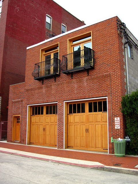 I would love a firehouse home someday! Or some refurbished brick building.