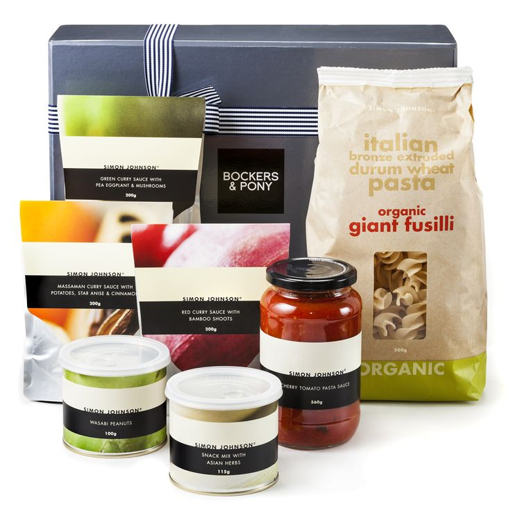 Simon Johnson Hamper | Gourmet Hampers - Bockers and Pony  This impressive Simon Johnson gift hamper will have the worst wanna-be gourmet cooks turn into an experienced chef! Gorgeous gourmet foods for our everyday lives.