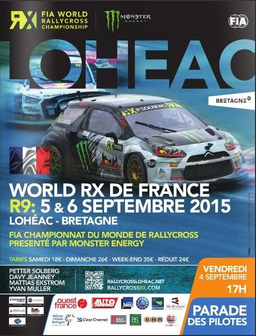 Le Rallye Cross de Lohéac avec un super temps et donc obligés de mouiller la piste les listes des engagés en D3 , D4 et Twingo  les listes des engagés FIA World Rallycross Championship avec 37 Supercar et 30 Super1600  ce qui compte c'est le spectacle...