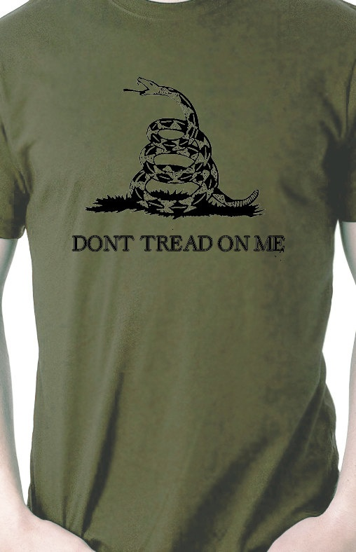 Don't Tread on Me Vintage Military TShirt by rageteez on Etsy, $9.99