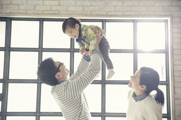 """銀座のハウススタジオ""""スタジオ・フレーム""""。 家族写真,子供写真"""