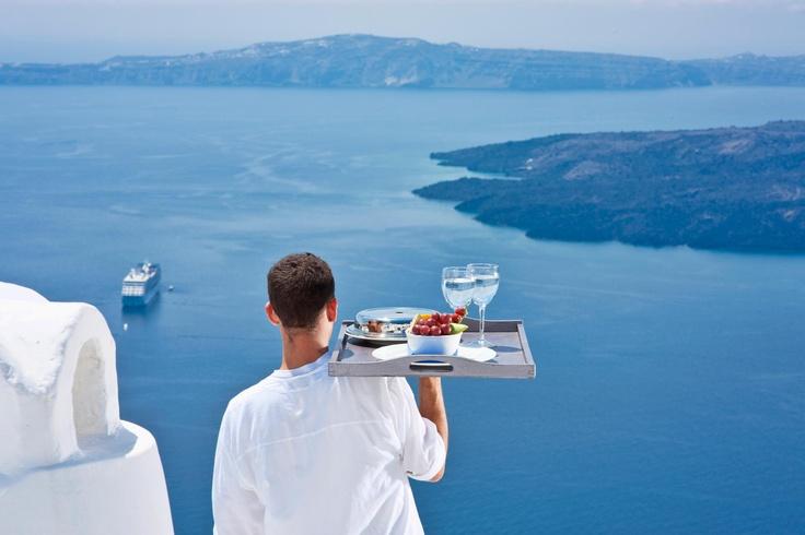 Breakfast in Santorini