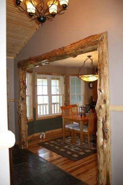 Deko Ideen, Wohnideen, Eingangs Wege, Türverkleidungen, Kabinenausstattung,  Rustikale Innenräume, Holzhütten, Ideen, Wohnen