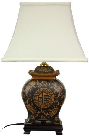 Oriental Furniture Asian Decor Accent, 22-Inch Ming Ceramic Spice Jar Oriental Lamp with Pagoda Shade, JCOX 695 by Oriental Furniture, http://www.amazon.com/dp/B000CBXU7C/ref=cm_sw_r_pi_dp_iEC4qb1BGY0EB