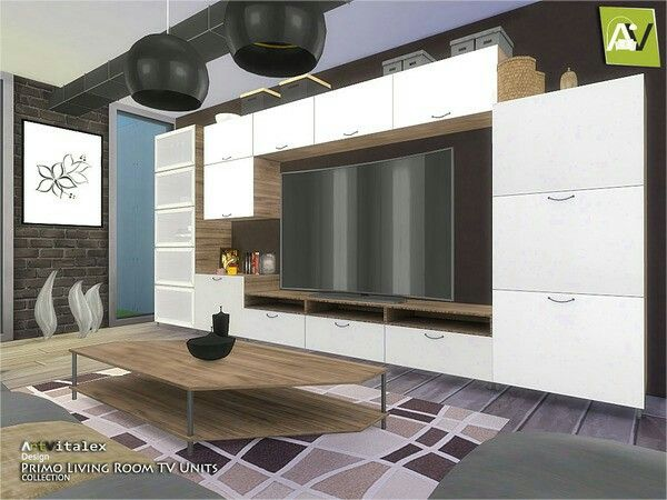 Primo Living Room TV Units By ArtVitalex From The Sims Resource For The Sims  4 Part 73