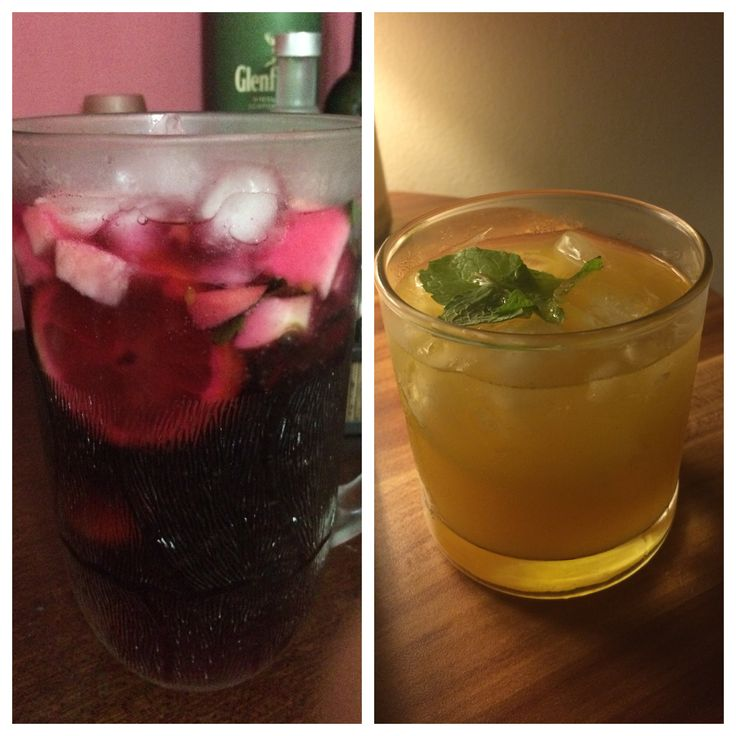 Home made cocktail, sangria and caipiroska