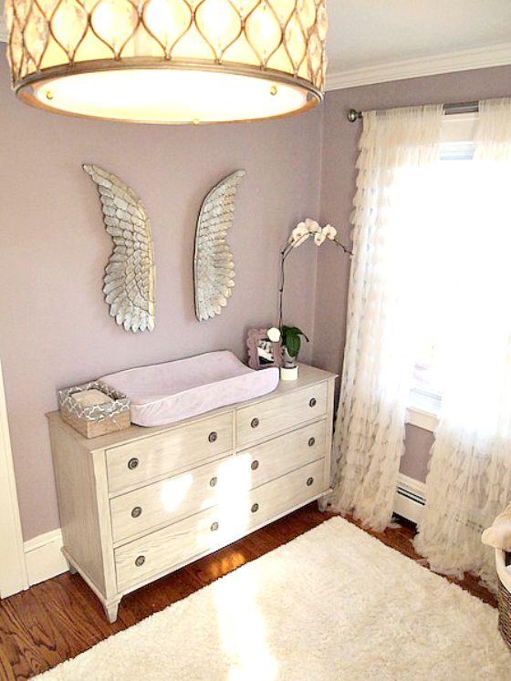Glamorous Purple and Gray Nursery