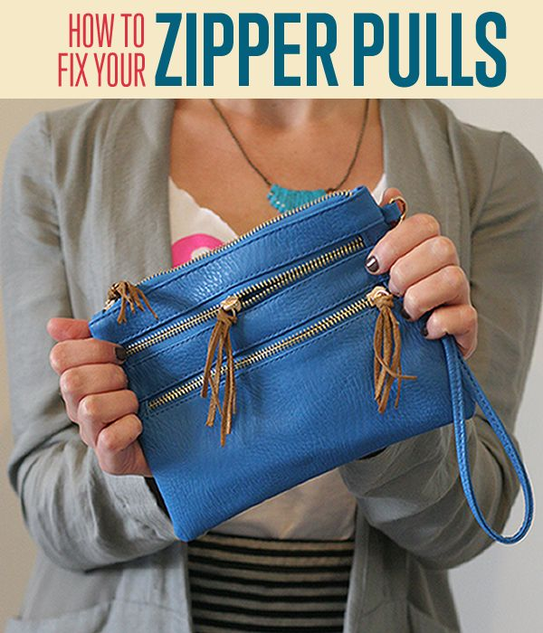 How to Fix Zipper Pull | Zipper Repair | Cute DIY Ideas | Leather Tassel Zipper Pulls DIYReady.com