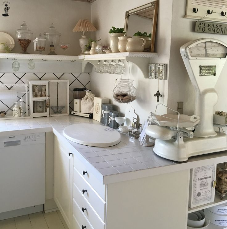 My old romantic white shabby chic kitchen