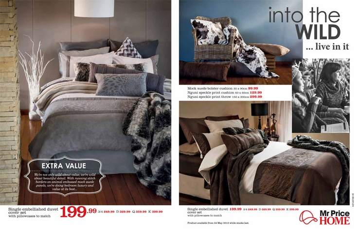 Mr Price Home   Grey, brown, white, colour combo main bedroom