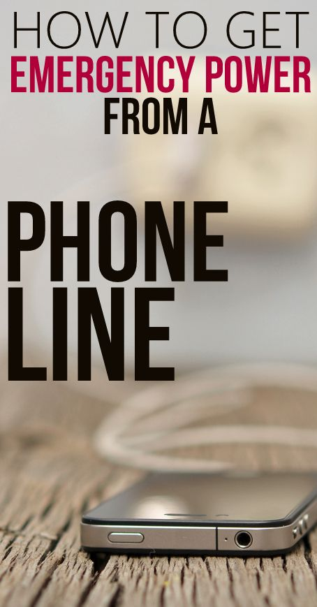 How to get Emergency Power from a Phone Line | **The Paleo Mama