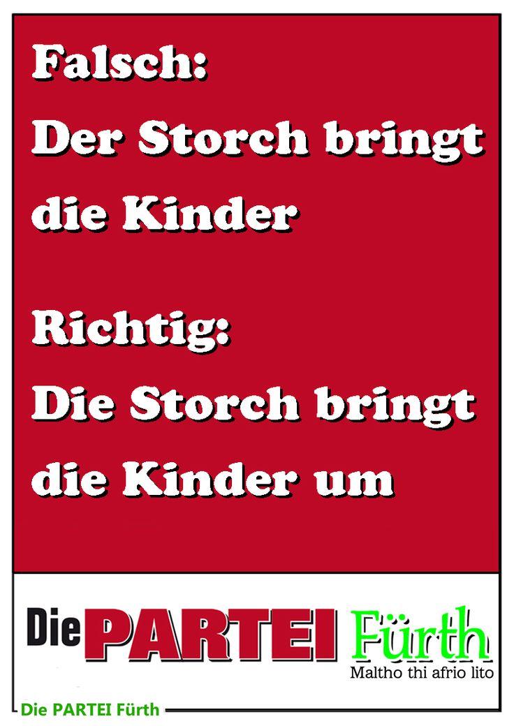 Plakat Partei AfD Storch Kinder 800 Poster