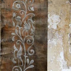another favorite: Panels Stencillot, Stencil Pescado, Stencil Patterns, Design Stencil, Backyard Wall Stencil, Royals Design, Design Studios, Stencil Wall, Pescado Panels