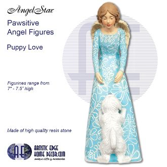Pawsitives Angel Figurines - Puppy Love